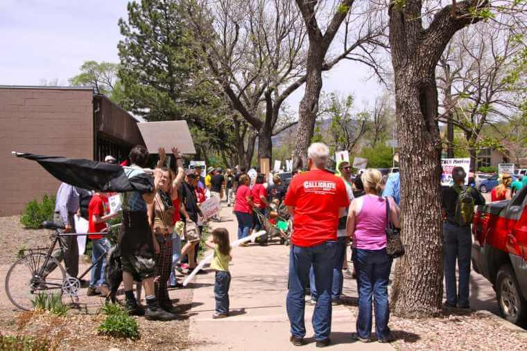 Locals March Against Monsanto