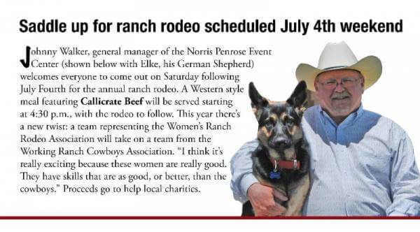 Saddle up for ranch rodeo scheduled July 4th weekend