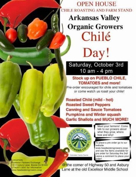 Arkansas Valley Organic Growers Chilé Day