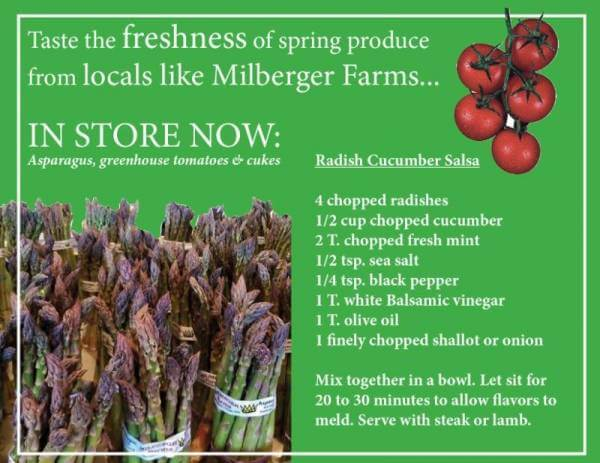 Taste the freshness of spring produce