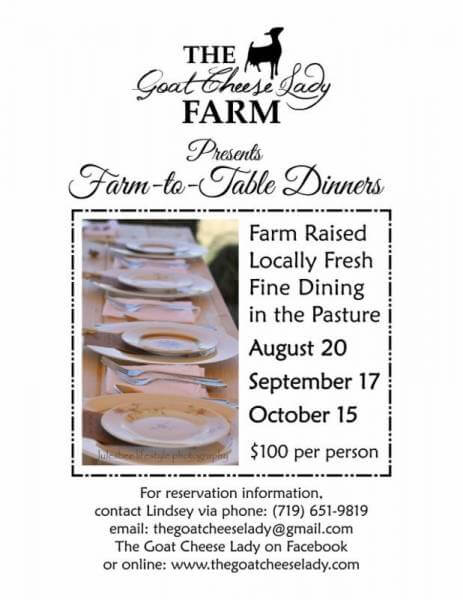 Early fall… the perfect time for farm to table dining…