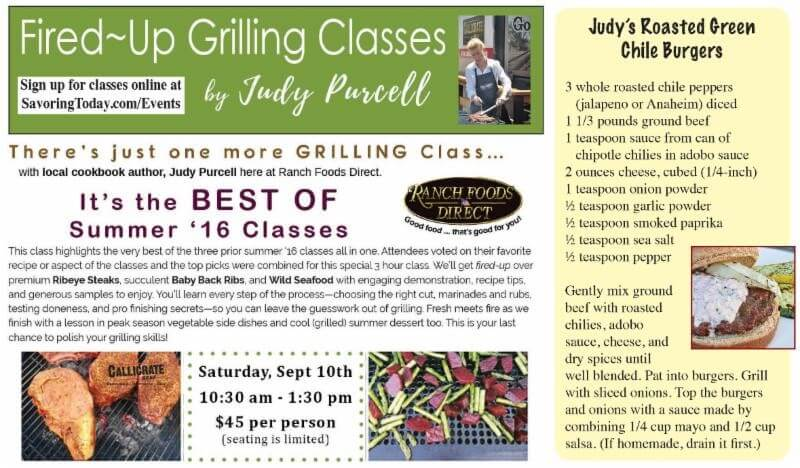 Fired-Up Grilling Classes with Judy Purcell