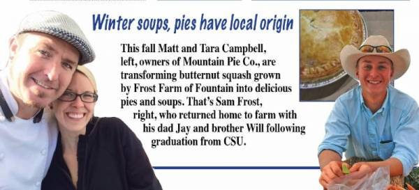 Winter soups, pies have local origin