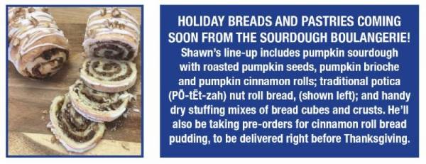 Holiday Breads and Pastries Coming Soon from the Sourdough Boulangerie