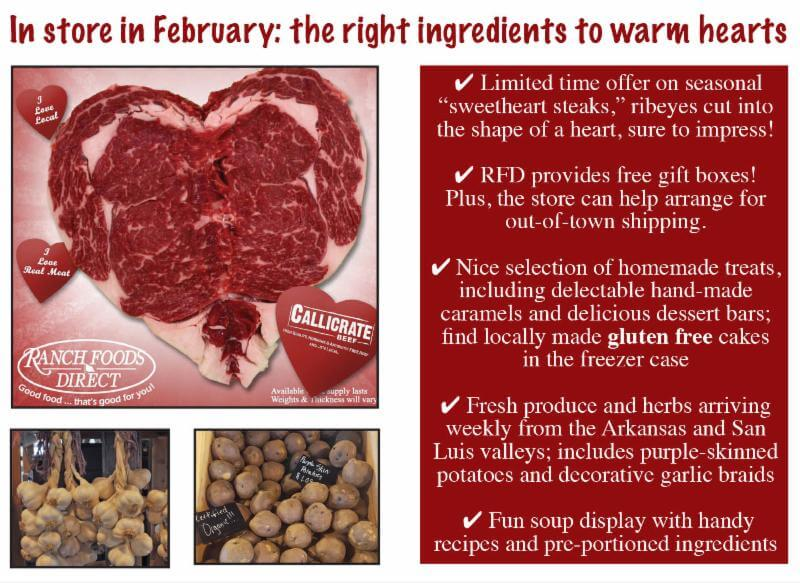 Come by and shop the wide selection of Valentine worthy steaks!